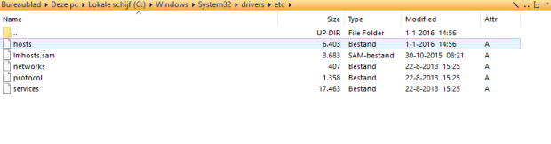 Modify the windows Host File