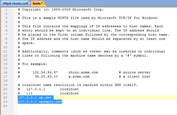 Adjusted Host file